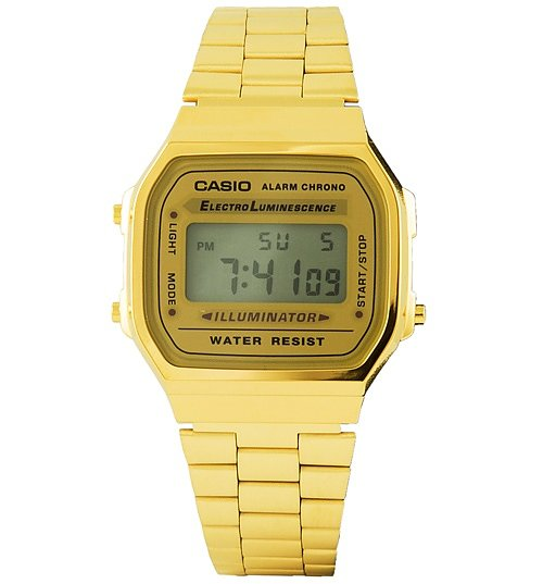 Classic Gold Illuminator Watch A168WG-9EF from Casio