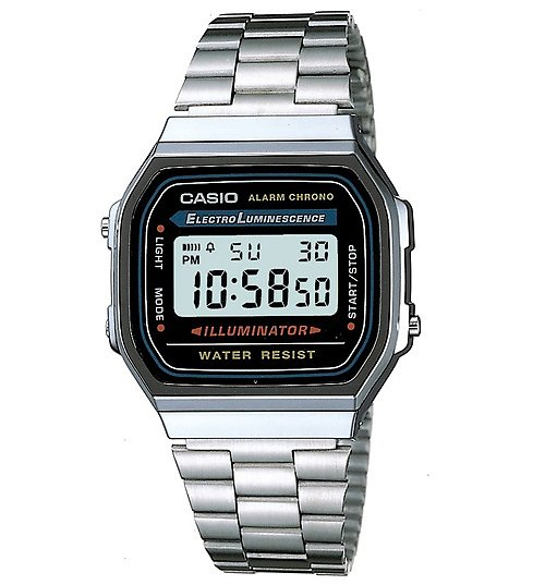 Classic Silver Illuminator Watch A168WA-1YES from Casio