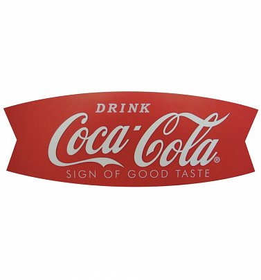 Coca-Cola Wood Fishtail Sign