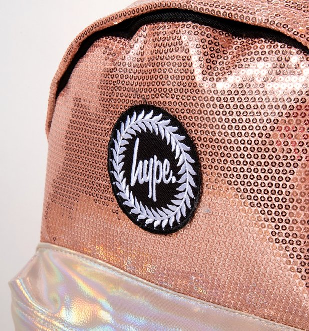 Disney Minnie Mouse Rose Gold Sequin Backpack With Ears from Hype