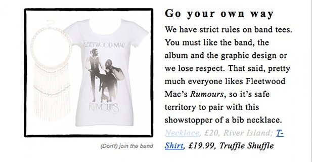 Women's White Fleetwood Mac Rumours T-Shirt from Amplified