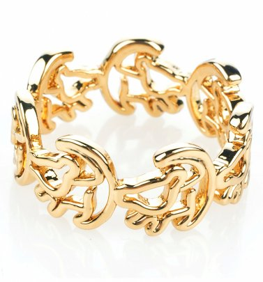 Gold Plated Simba Outline Lion King Ring from Disney Couture