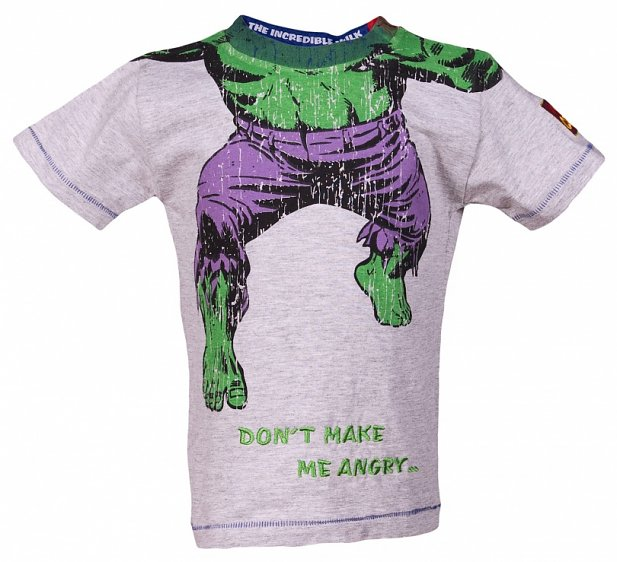 Kids Headless Incredible Hulk Don't Make Me Angry T-Shirt from Fabric Flavours