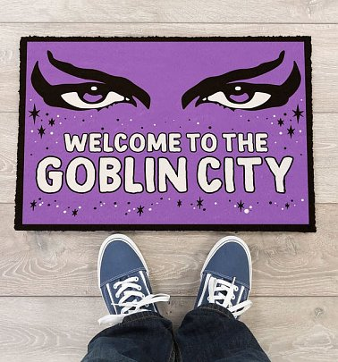 Labyrinth Welcome To The Goblin Kingdom Door Mat