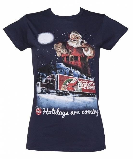 Women's Coca-Cola Holidays Are Coming Christmas T-Shirt