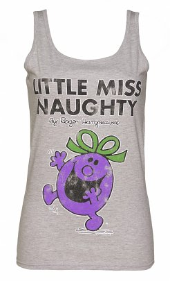 Women's Grey Little Miss Naughty Vest