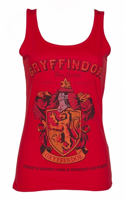 Women's Red Harry Potter Gryffindor Team Quidditch Vest