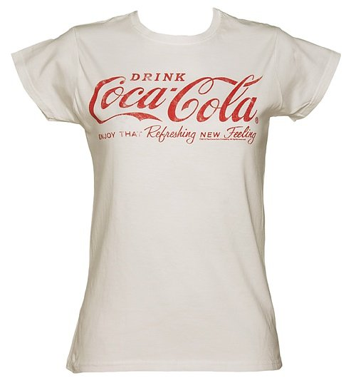 Women's White Drink Coca-Cola Logo T-Shirt