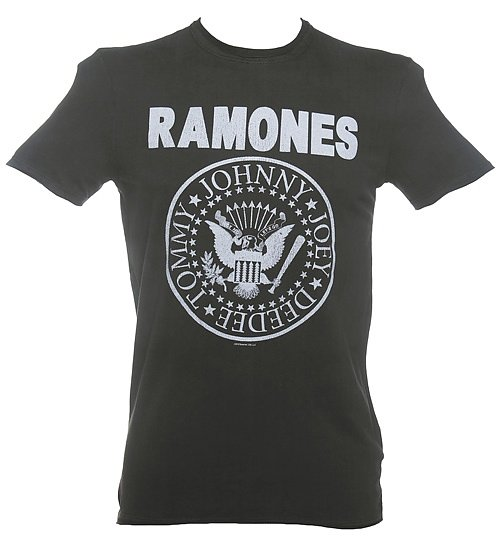 Men's Classic Charcoal Ramones Logo T-Shirt from Amplified