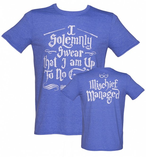 Men's Harry Potter I Solemnly Swear Mischief Managed T-Shirt