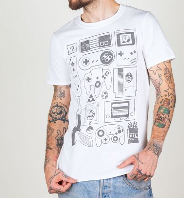 Old School Gamer Herren T -Shirt