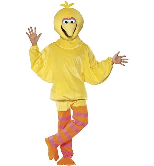 Men's Sesame Street Big Bird Fancy Dress Costume