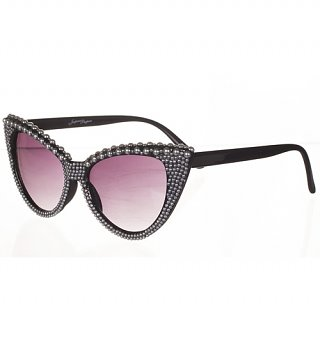 Pearl Detail Isabella 50's Style Retro Sunglasses from Jeepers Peepers