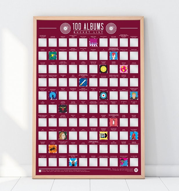 100 Albums Bucket List Scratch Poster