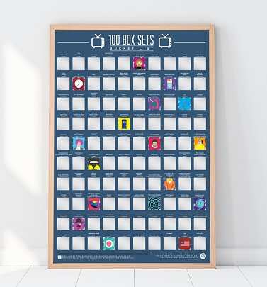 100 Box Sets Bucket List Scratch Poster