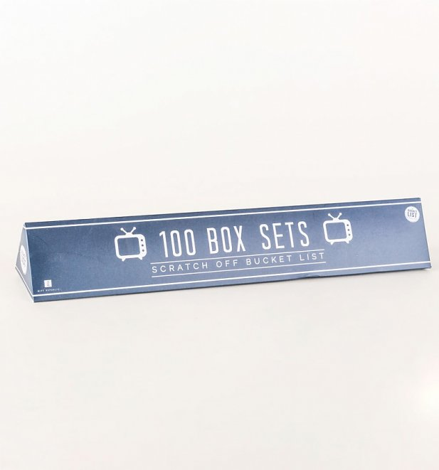 100 TV Box Sets Bucket List Scratch Poster