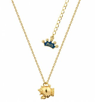 14kt Gold Plated Beauty & The Beast Mrs Potts Necklace from Disney Couture