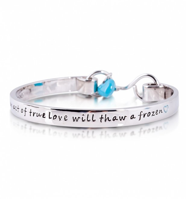 14kt White Gold Plated Frozen Heart Bangle from Disney Couture
