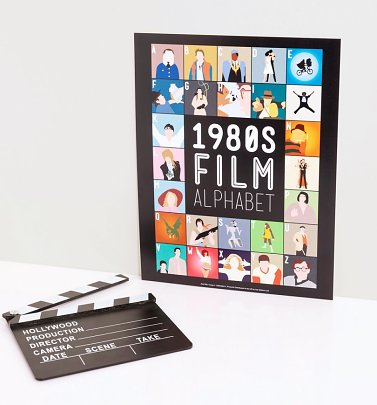 1980's Film Alphabet 11'' x 14'' Art Print