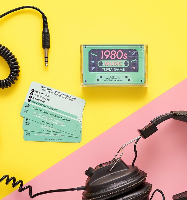 1980s Music Trivia Cassette Quiz Game