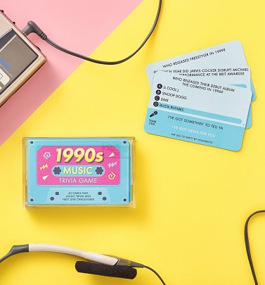 1990s Music Trivia Cassette Quiz Game