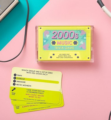 2000s Music Trivia Cassette Quiz Game