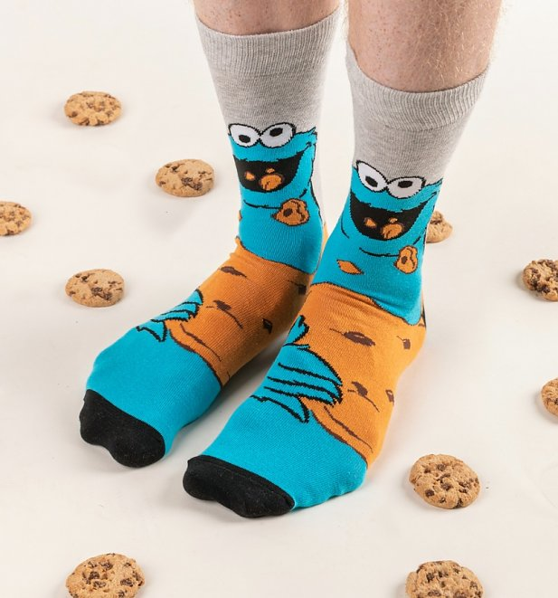 2pk Cookie Monster and Elmo Sesame Street Socks