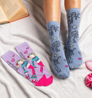 2pk Groovy Chick Bang On The Door Ankle Socks