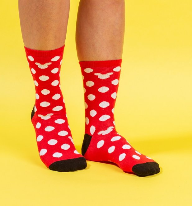 2pk Minnie and Mickey Mouse Socks