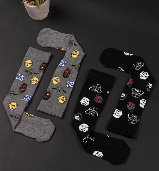 2pk Star Wars Socks