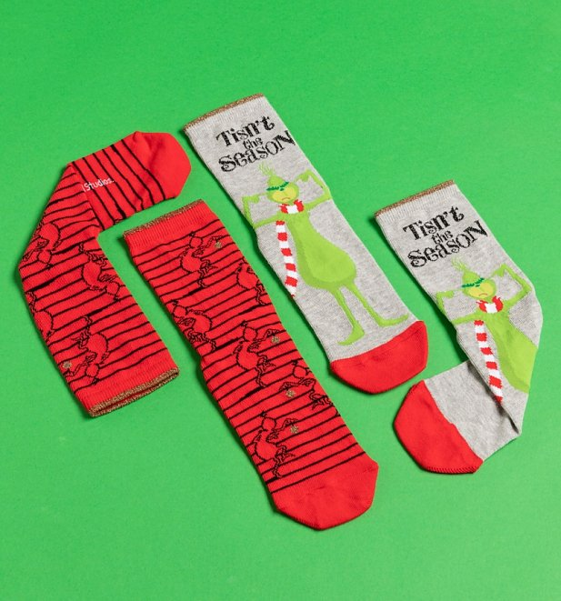 2pk The Grinch Socks