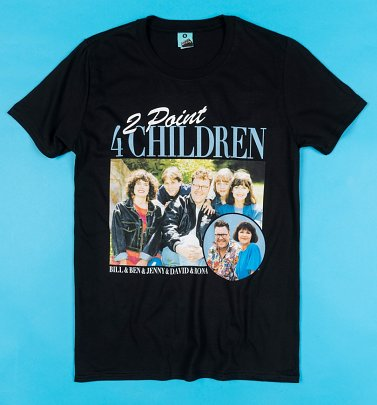 2point4 Children Black T-Shirt