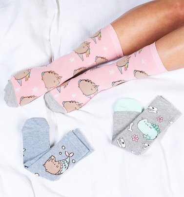 3pk Pusheen Socks