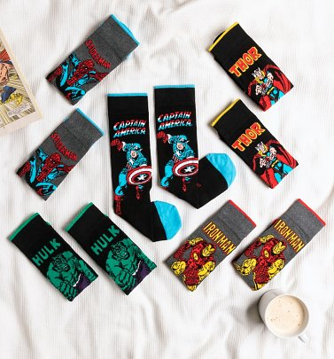 5pk Marvel Socks