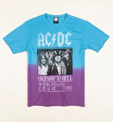 AC/DC Highway To Hell Dip Dye T-Shirt from Amplified