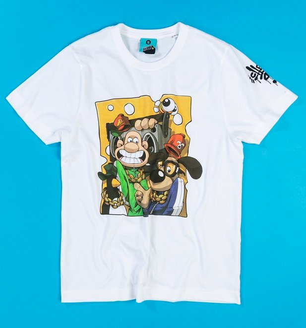 Aardman x Cheo Wallace And Gromit White Organic T-Shirt