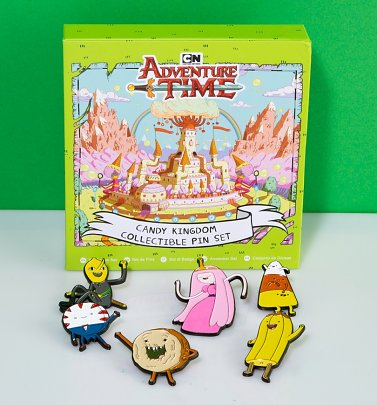 Adventure Time Candy Kingdom Enamel Pin Badge Set