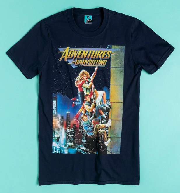 Adventures In Babysitting Movie Poster Navy T-Shirt