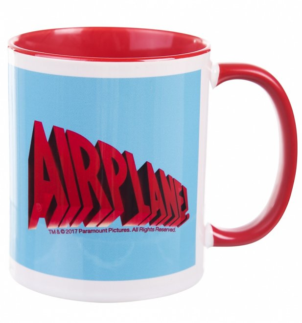 Airplane Movie Logo Mug with Coloured Handle