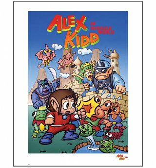 "Alex Kidd In Miracle World 11.7"" x 16.5"" Art Print"