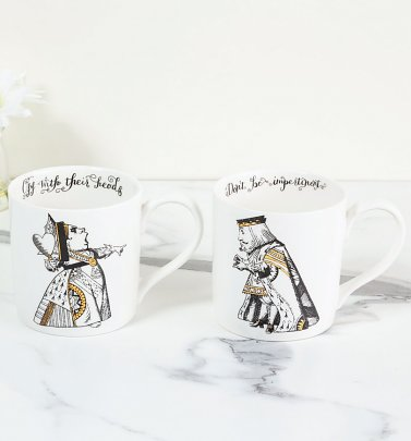 Alice In Wonderland Victoria & Albert Museum Set Of 2 His & Hers China Mugs