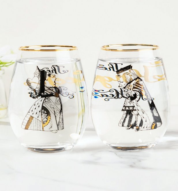 Alice In Wonderland Victoria & Albert Museum Set of 2 His & Hers Tumblers