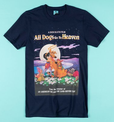 All Dogs Go To Heaven Navy T-Shirt