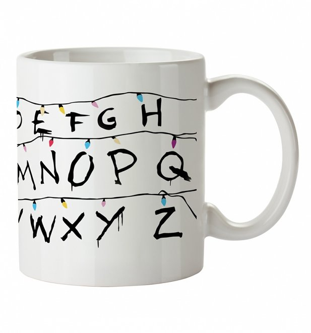 Alphabet Lights Stranger Things Inspired Mug