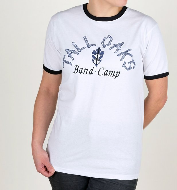 American Pie Inspired Tall Oaks Band Camp Embroidered White And Black Ringer T-Shirt