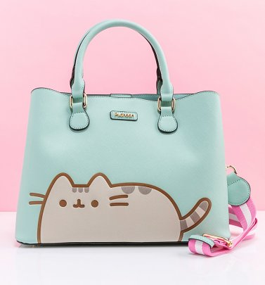 Aqua Pusheen Shoulder Bag from Difuzed