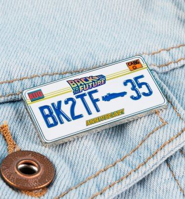 Back To The Future 35th Anniversary Enamel Pin Badge