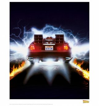 "Back To The Future Delorean 11"" x 14"" Art Print"