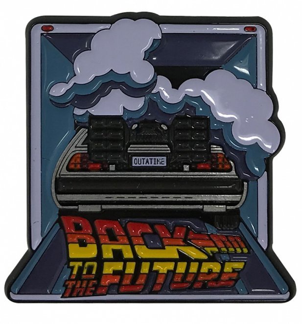 Limited Edition Back To The Future Delorean Enamel Pin