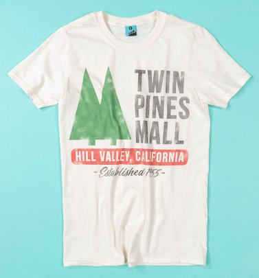 Back To The Future Inspired Twin Pines Mall Ecru T-Shirt